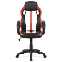 Kancelářská židle LAWRENCE červená/černá/bílá 5