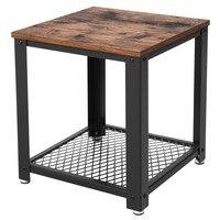 Přístavný stolek LET41X černá/přírodní 1