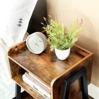 Přístavný stolek  LET54X černá/hnědá 4