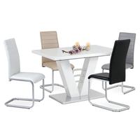 Jedálenská stolička LILY biela 2
