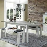 Jídelní stůl LIMA pinie/bílá 4