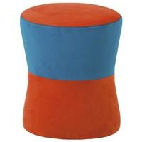 Taburet LION oranžovo-modrá 1