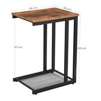 Přístavný stolek LNT51X hnědá/černá 3