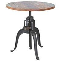 Barový stôl LONDOS hnedá/čierna 1