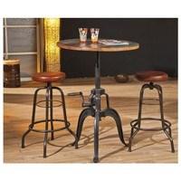 Barový stôl LONDOS hnedá/čierna 2