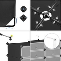 Šuplíkový regál LPC10HV1 černá/transparentní 3