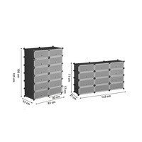Úložný plastový organizér LPC26HV1 černá/transparentní 3