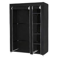 Látková šatní skříň LSF007 černá 1