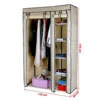 Látková šatníková skriňa LSF007 béžová 4