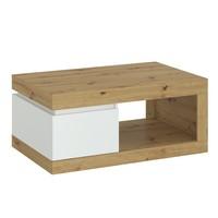 Konferenční stolek  LUCI dub artisan/alpská bílá 1