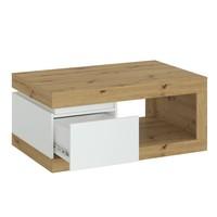 Konferenční stolek  LUCI dub artisan/alpská bílá 3