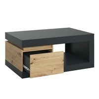 Konferenční stolek  LUCI dub artisan/šedá 3