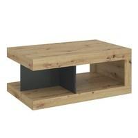 Konferenční stolek LUCI dub artisan/bílá/tmavě šedá 4