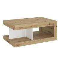 Konferenční stolek LUCI dub artisan/bílá/tmavě šedá 1