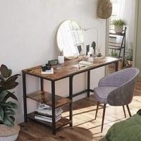 Psací stůl LWD47X černá/hnědá 5