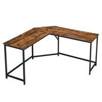 Rohový psací stůl LWD73X černá/hnědá 1