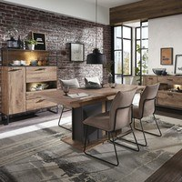 Jídelní stůl MANHATTAN dub havelland cognac/grafit 2