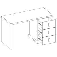 Psací stůl MASSI 06 dub hikora/bílá 3