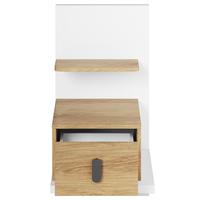Noční stolek MASSI 08 dub hikora/bílá, pravé provedení 3