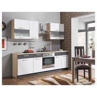 Kuchyňská sestava MAXIMA, 240 cm bílá lesk/grafit matný 1