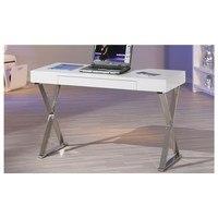 Psací stůl MEGGIE bílá/stříbrná 3