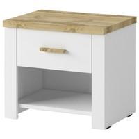 Noční stolek  MERANO 2 ks, bilá/dekor dub wotan 1