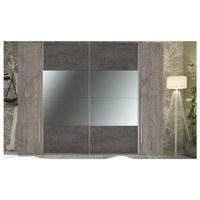 Šatní skříň s kombinovanými dveřmi MERWIN dekor dub/beton 4