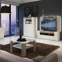 Konferenční stolek  MILANO alpská bílá/dub sanremo 5