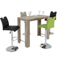 Barová židle MIRANDA H černá/stříbrná 2