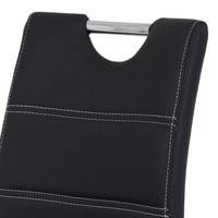 Barová židle MIRANDA H černá/stříbrná 5