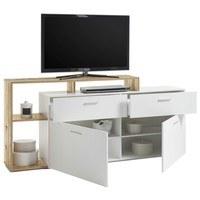 TV stolek NEW VISION  bílá/old style 4