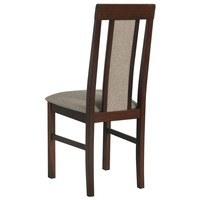 Jídelní židle NILA 2 světle hnědá/hnědá 2