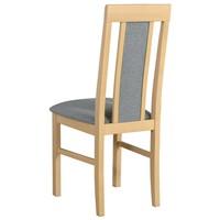 Jídelní židle NILA 2 světle šedá/dub sonoma 2