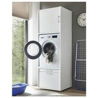 Skriňa na práčku NIXXI biela 2