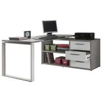 Kancelářský stůl NUOVO beton/bílá 1