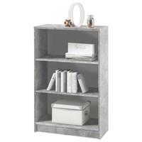 Regál/knihovna OPTIMUS 35-014-66 beton/bílá 1