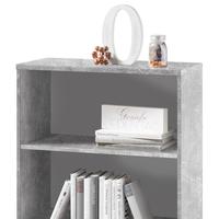Regál/knihovna OPTIMUS 35-014-66 beton/bílá 3