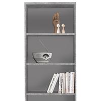 Regál/knihovna OPTIMUS 35-015 beton/bílá 2