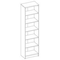 Regál/knihovna OPTIMUS 35-015 beton/bílá 4