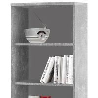 Regál/knihovna OPTIMUS 35-017-66 beton/bílá 2