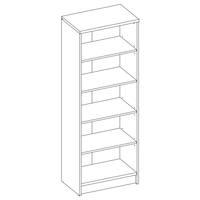 Regál/knihovna OPTIMUS 35-017-66 beton/bílá 4