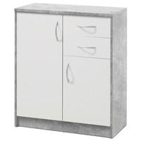 Komoda OPTIMUS 38-003 bílá/beton 1