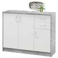 Komoda OPTIMUS 38-005 bílá/beton 1