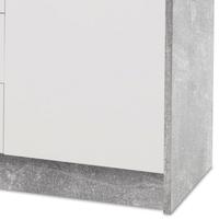 Komoda OPTIMUS 38-007 bílá/beton 3