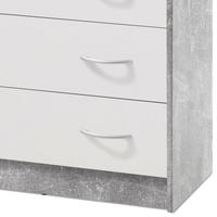 Komoda OPTIMUS 38-008 bílá/beton 3
