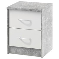 Noční stolek OPTIMUS 38-009 bílá/beton 1