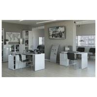 Rohový písací stôl ORECO biela 2