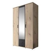 Šatní skříň OTMAR dub artisan/antracit 1