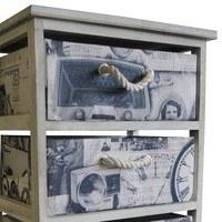 Komoda/regál so zásuvkami PARIS 005 krémová s potlačou/biela 2