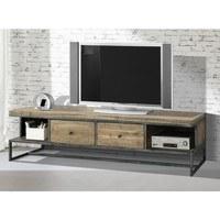 TV stolek PARQUET přírodní akácie/šedá 2